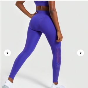 NWT gymshark geo mesh leggings high waisted
